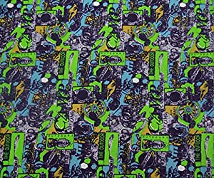 """Poly Cotton Blue Printed Dressmaking 58"""" Wide Opaque Crafting Fabric By The Metre"""