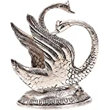 Oxidized White Silver Metal Swan Napkin Holder Decorative Rajasthani Traditional Pink City Unique Handicraft Handmade Gift Item For Home Table Wall Decor Showpiece Or Figurine