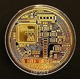 Fine BTC Bitcoin 24k Gold Plated Commemo...