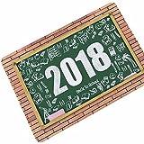 WANG-shunlida Das Jahr 2018 Gummi Teppich Küche Bad WC Pad Thin Pad Eintrag, 40 X 60 cm, R