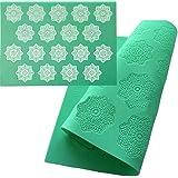 Tapis de gaufrage motif flocon de neige, tapis de dentelle en silicone, tapis de dentelle en sucre, tapis gaufré, moule à gât