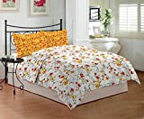 Bombay Dyeing Cynthia 120 TC Polycotton Double Bedsheet with 2 Pillow Covers - Yellow