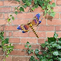 Metallic Dragonfly Wall Art with Jewels decoration will brighten up your garden - Dragonfly(Purple) by Scotrade