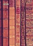 Taschenkalender Big - Antique Books mit Magnetverschluß - Kalenderbuch A5-14 Monate - Kalender 2019 - teNeues-Verlag - Taschenplaner mit Lesebändchen und Zetteltasche - 16 cm x 22 cm