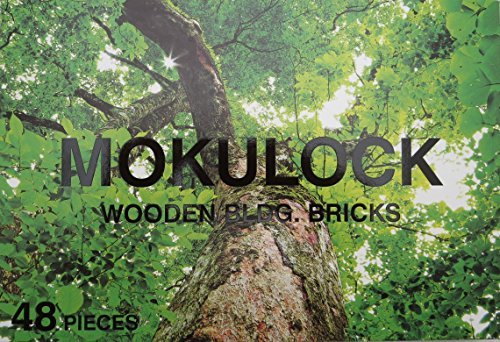 Mokulock 48Teile–Holz Bausteine