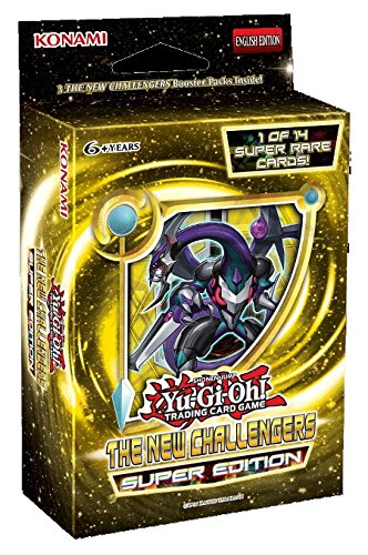 Preisvergleich Produktbild Yu-Gi-Oh! New Challengers SE HOBBY Special Super Edition TCG Cards Booster Mini-Box - 3 packs + 1 Super Rare Card