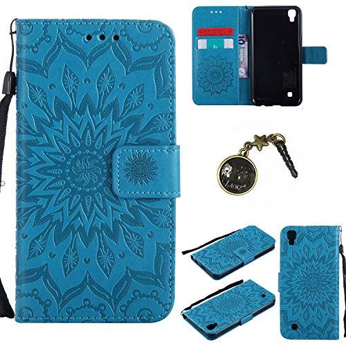 Preisvergleich Produktbild PU Silikon Schutzhülle Handyhülle Painted pc case cover hülle Handy-Fall-Haut Shell Abdeckungen für LG X Power (13,5 cm (5,3 Zoll) hülle +Staubstecker (8FF)
