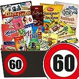 60. Geburtstag | Schokolade Geschenke für Männer | GRATIS DDR Kochbuch | mit Zetti Bambina, Mokka Bohnen | Schoko Box