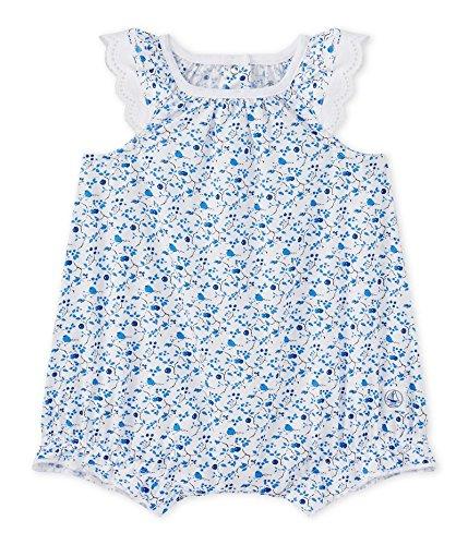Petit Bateau Baby-Mädchen Spieler COMBICOURT 27359, Mehrfarbig (Ecume/Multico 37), 80 (Herstellergröße: 12m/74cm)