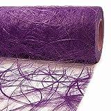Sizoweb 1 X Rouleau Chemin de Table 60cm Large X 25m Long - Violet