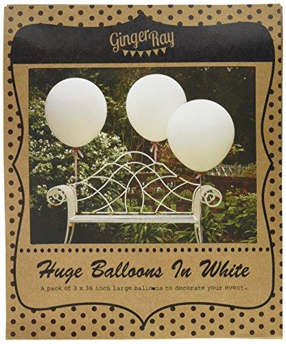 Ginger Ray weiß 36 Zoll-Funktion, Hochzeit, Luftballons - Vintage-Affäre