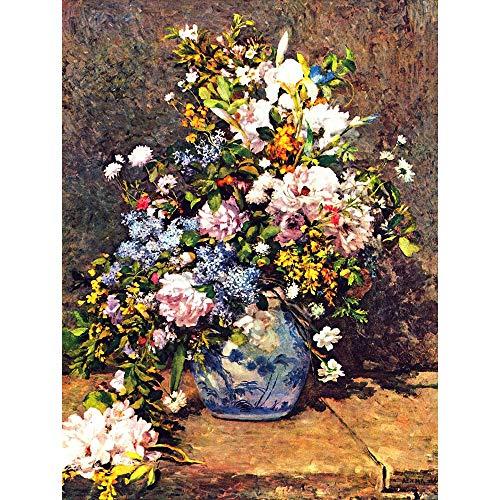 Pierre Auguste Renoir Still Life (Wee Blue Coo LTD Pierre Auguste Renoir Still Life with Large Vase Old Painting Art Print Poster Wall Decor Kunstdruck Poster Wand-Dekor-12X16 Zoll)
