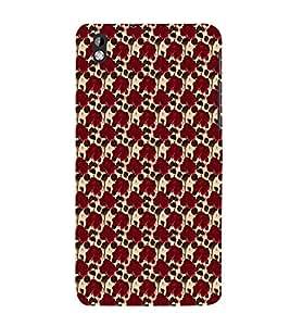 EPICCASE red roses Mobile Back Case Cover For HTC Desire 816 (Designer Case)