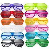 Comius Gafas de Fiesta, 12 Pares Gafas de Sol de persiana para Fiestas de Juguete
