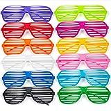 Comius Gafas de Fiesta, 12 Pares Gafas de Sol de persiana para Fiestas...