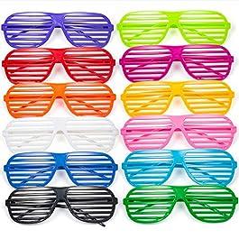 Comius Occhiali Divertenti, 12 Pack Moda '80 Slotted Occhiali da Stella Vetri di novità Occhiali Perfetti per Riempire…