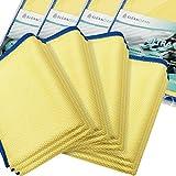 ELEXACLEAN Fenstertuch streifenfrei, Premium Mikrofaser Scheibentuch (12 Stück, 60x40 cm), Glas Putztücher Autotuch für Innen & Außen