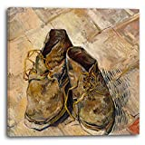 Printed Paintings Leinwand (70x70cm): Vincent Van Gogh - Schuhe