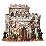 Castello arabo per presepe in sughero