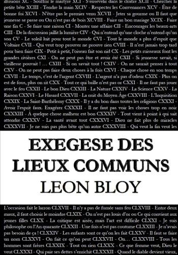 Exégèse des lieux communs par Léon Bloy