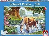 Schmidt Spiele Puzzle 56161 Pferde am Bach, 150 Teile