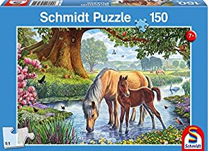 Schmidt 56161 - Caballos de Torrente: Kids Jigsaw Puzzle 150 Piezas Partir de 7 años