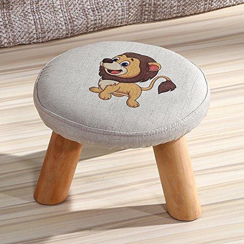 Dana Carrie En d'autres selles banc de chaussures sur une table basse tabouret bas en bois massif et tissus adultes enfants créatifs élégante petite chaise canapé tabouret rond, petit lion