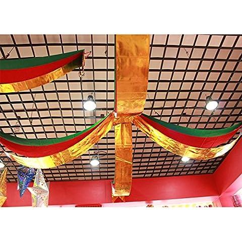 Decorazioni per l'albero di natale bandiera di Natale regali di natale onda appeso bandiere natale bandiera Croce ornamento