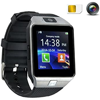 SmartWatch Bluetooth avec caméra DZ09 montre intelligente 1.56 TFT Touch Screen smart bracelet montre connectée antivol