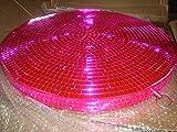 Scheibe, Styrofoam, mit Spiegelplättchen, mit Aufhängeöse pink 45cm