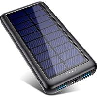 Solar Powerbank 26800mAh【iPosible Neueste S4 Solar Ladegerät】mit USB-C Eingang,Power Bank Externer Akku Akkupack mit 2…