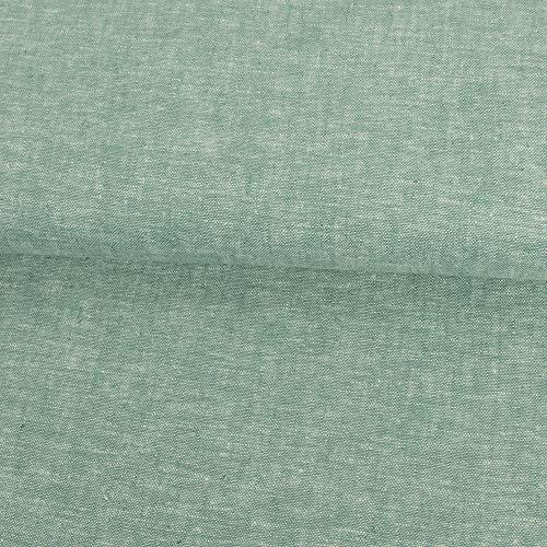 Stoffe Werning Leinenmischgewebe meliert hell Petrol Sommerstoffe - Preis Gilt für 0,5 Meter - Sommer-stoffe-leinen-stoff