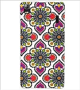 PrintDhaba Floral Design D-2045 Back Case Cover for LENOVO K3 NOTE (Multi-Coloured)