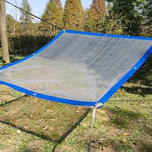 WATER Lichtdurchlässige Plane Mit Ösen Und Verdicktem Rand, wasserdichte Transparente Planen-Boden-Blatt-Abdeckungen PVCs for Garten (Color : Blue, Size : 5×6M) -