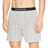 Fruit of the Loom Men's Printed Cotton Boxers (MBS03-A1P1-BIRCH-M)
