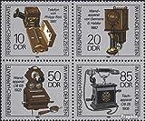 Prophila Collection DDR 3226-3229 Viererblock (kompl.Ausg.) 1989 Telefone (Briefmarken für Sammler)