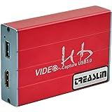 Capture Card, USB3.0 HDMI Game Capture Karte HDCP 1080p 60FPS HD Video Capture Recorder Box für Live Stream Game Streaming auf YouTube Twitch, Kompatibel mit OBS Xsplit, PS4/Switch/Xbox/DSLR