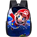 Simmpu Mario Bros Mochilas Escolares Mario Bros Mochila Casual Juego de mochila escolar Mario Bros Mochila Patrón Popular Car