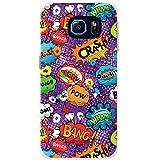 Comic-Aktionen Violett Wow Pow Ouch Bang Hartschalenhülle Telefonhülle zum Aufstecken für Samsung Galaxy S6 Edge (SM-G925)