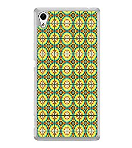 ifasho Animated Pattern design colorful flower in royal style with lines Back Case Cover for Sony Xperia Z3 Plus