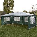 Gartenpavillon Partyzelt Bierzelt Pavillon Gartenzelt Hochzeit Festzelt Zelt 3 x 6 m Farbwahl (Grün)