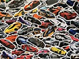 SBS Lot de Stickers Voitures, Tuning, Course Auto, Sponsor, Sticker Voiture de Sport, Rally, GT, Concept-Car, Marque, décoration Enfant, Collection, Car, Autocollants, carrosserie (50)