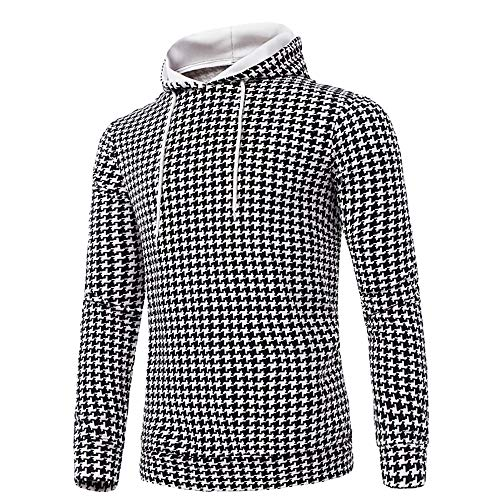 Pullover Herren Langärmliges Print Kapuzenpulli Sweatshirts Top Outwear Bluse SANFASHION