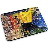 Van Gogh - The Cafe Terrace On The Place Du Forum Arles At Night, Mousepad Anti Rutsch Unterseite für Optimalen Halt Kompatibel mit allen Maustypen (Kugel, Optisch, Laser) Ideal für Gamer und für Grafikdesigner.