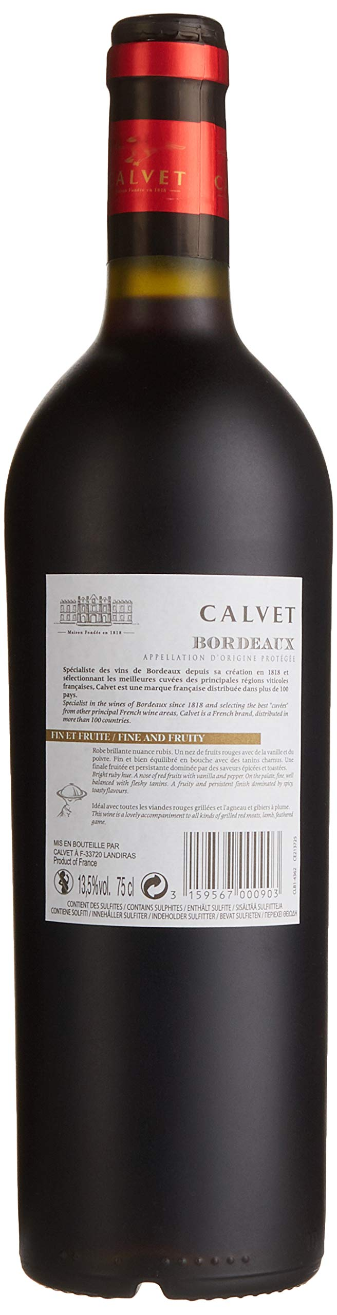 Calvet-Selection-Princes-Medaille-AOP-Bordeaux-Merlot-Halbtrocken-6-x-075-l