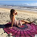 CAMTOAThrow Chiffon Tapestry, Indian Mandala Wall Hanging, Bohemian Decor, Dorm Room Decorations, Hippie Wall Urban Tapestries, Cotton Beach Blanket, Boho Picnic Throw, Cotton Bedding-Dia.150cm