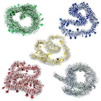 Milopon-Weihnachten-Girlande-Lametta-Weihnachtsbaum-Deko-Band-Ribbon-Hngende-Anhnger-Weihnachtsschmuck-fr-Hochzeit-Weihnachten-Party-2cm7m