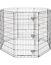 AmazonBasics Foldable Metal Pet Exercise and Playpen with Door, 48in