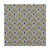 Tissu coton enduit écailles - Doré & noir - Largeur 160 cm- Longueur au choix par 50cm