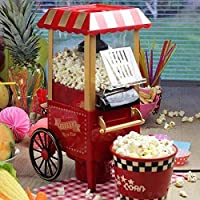Popcorn Trolley - Vintage Collection, Stainless Steel Hot Popcorn Maker Machine - Electronic Machine